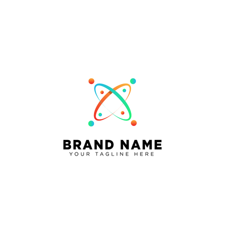 galaxy planet logo template vector design illustration icon element