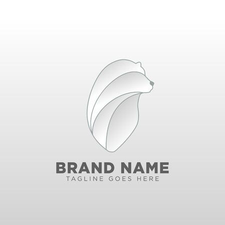 bear logo design concept vector template icon element isolated - vector Иллюстрация