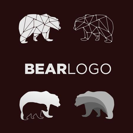 bear geometric logo design vector illustration icon element - vector  イラスト・ベクター素材