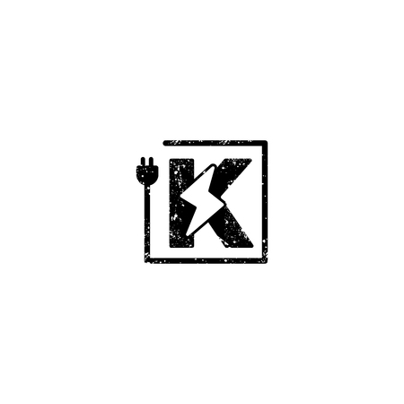 flash logo initial k symbol electrical vector icon element isolated - vector 矢量图像