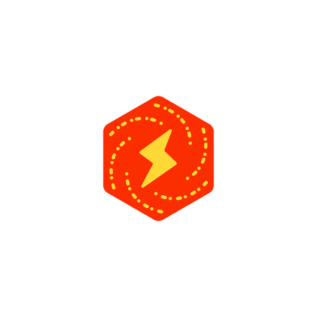 flash logo symbol electrical vector icon element isolated - vector Illustration