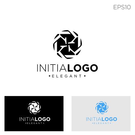 monogram initial k, kk, k logo template black color vector illustration - vector