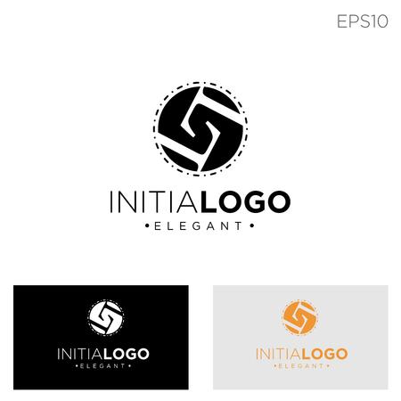monogram initial l, ll, l logo template black color vector illustration - vector Vectores