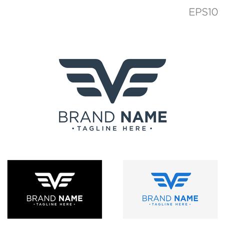 monogram initial ve, ve logo template black color vector illustration - vector