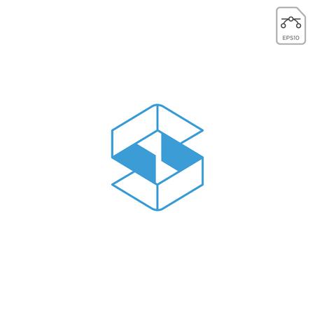 letter S geometrische logo pictogram abstract ontwerp geïsoleerd