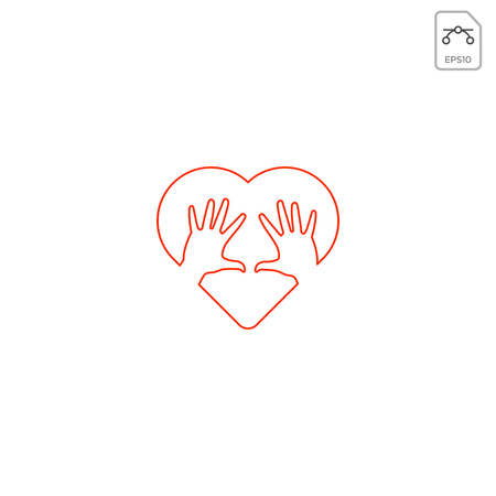 love care give heart logo template vector illustration icon element - vector