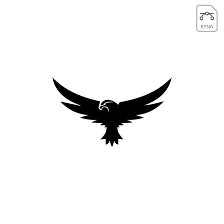 flying eagle logo template vector illustration