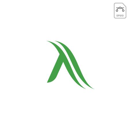 letter A nature leaf logo design vector illustration element isolated
