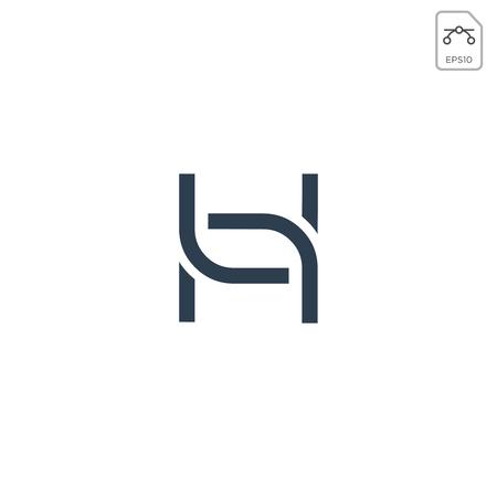 letter h nature leaf logo design vector illustration element isolated