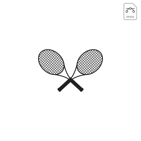 badminton racket logo vector icon element isolated - vector Illustration