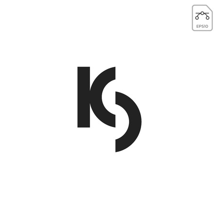 initial KD logo design or icon vector element isolated