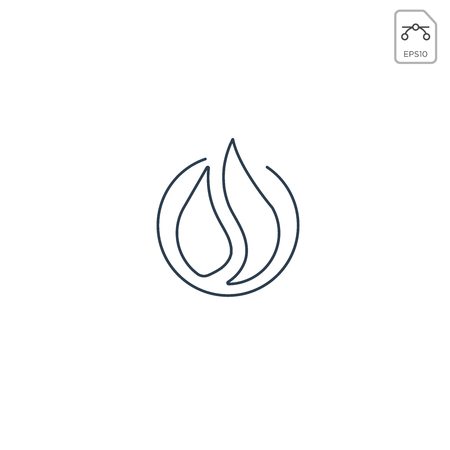 fire flame logo design or minimal icon vector element isolated