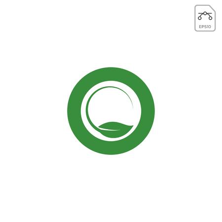 leaf letter O logo design inspiration vector icon or symbol isolated