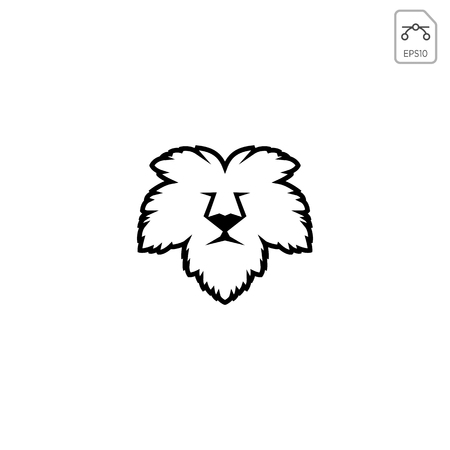 lion face leaf nature logo template vector icon isolated