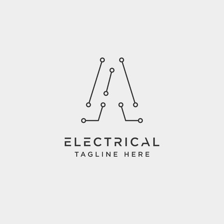 connect or electrical a logo design vector icon element isolated - vector