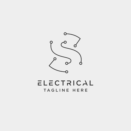 connect or electrical s logo design vector icon element isolated - vector