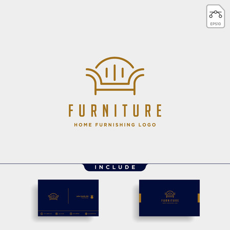 furniture logo design vector icon illustration icon element isolated 矢量图像