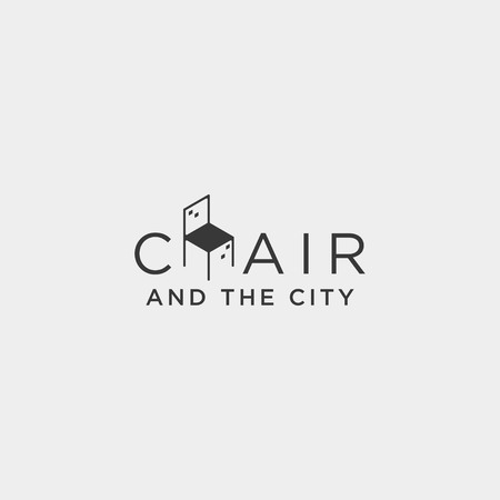 chair city logo design vector icon illustration icon element isolated