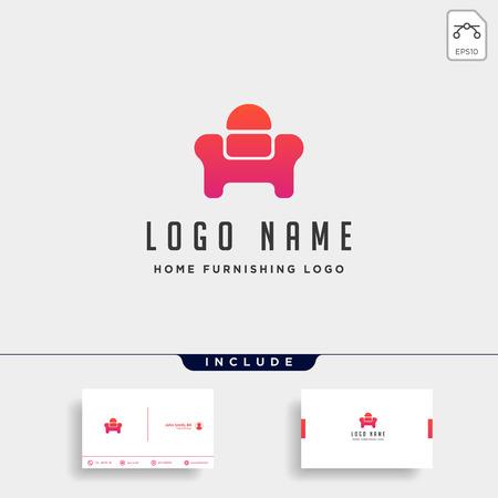 chair logo design vector icon illustration icon element isolated Vettoriali