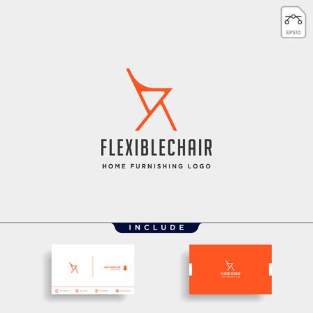 chair logo design vector icon illustration icon element isolated Illustration