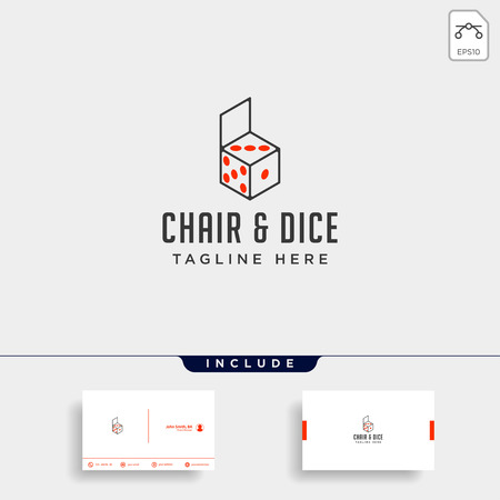chair game logo design vector icon illustration icon element isolated