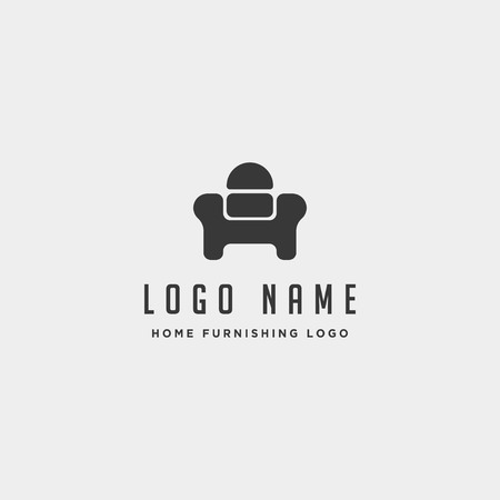 furniture logo design vector icon illustration icon element isolated Ilustração