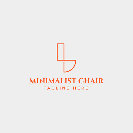 chair logo design concept with modern design vector icon element isolated
