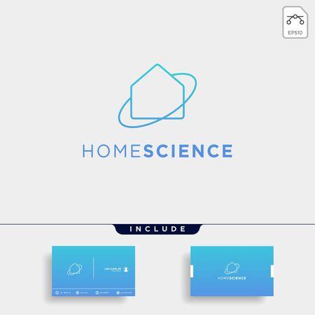 home architect logo minimalis design vector icon element