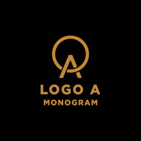 luxury initial a logo design vector icon element isolated