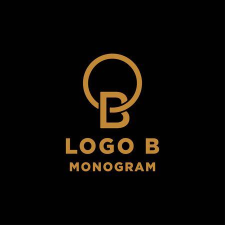 luxury initial b logo design vector icon element isolated