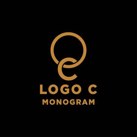 luxury initial c logo design vector icon element isolated