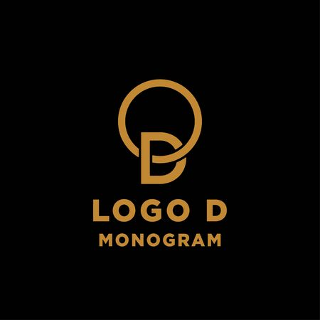 luxury initial d logo design vector icon element isolated