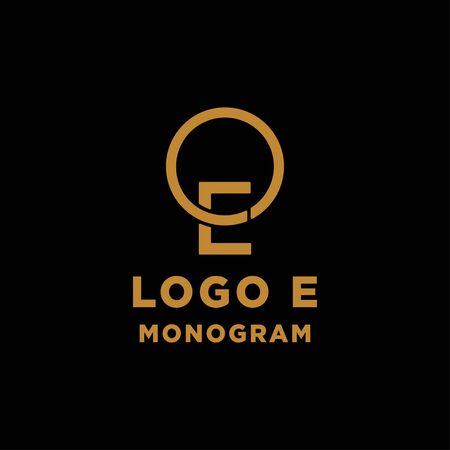 luxury initial e logo design vector icon element isolated