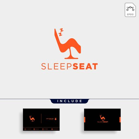 chair relax logo design vector icon element isolated Ilustração