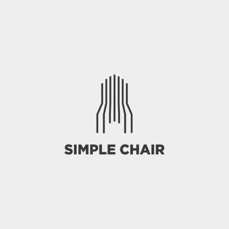 chair logo design furniture vector icon element isolated