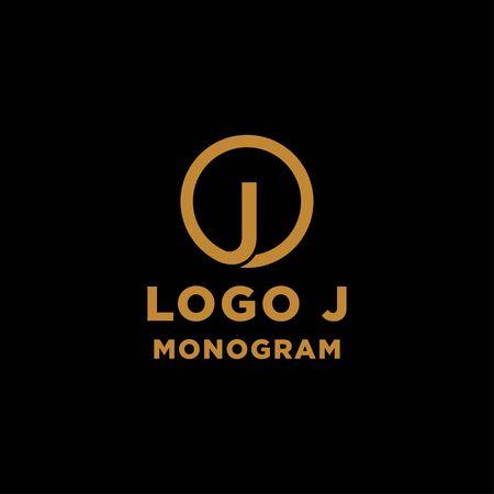 luxury initial j logo design vector icon element Ilustração