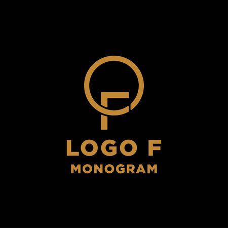 luxury initial f logo design vector icon element Ilustração