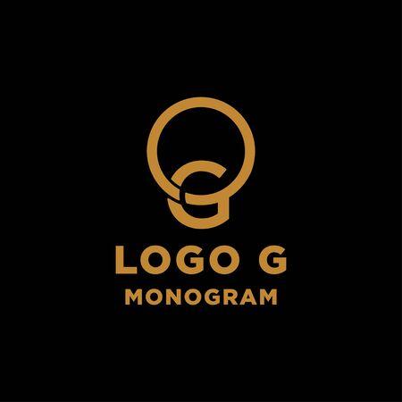 luxury initial g logo design vector icon element