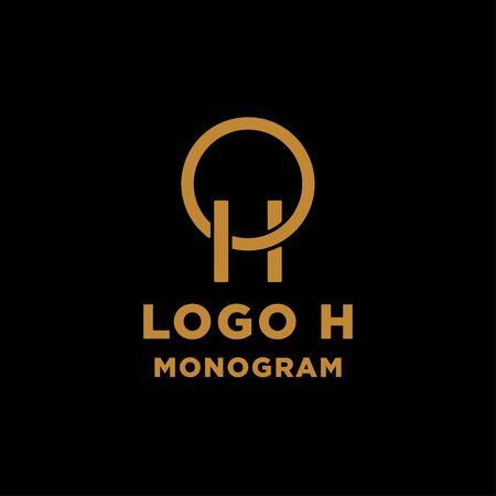 luxury initial h logo design vector icon element Ilustração