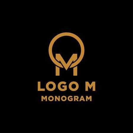 luxury initial m logo design vector icon element Ilustração