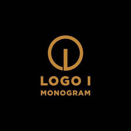 luxury initial i logo design vector icon element Ilustração