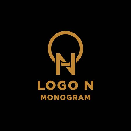 luxury initial n logo design vector icon element isolated