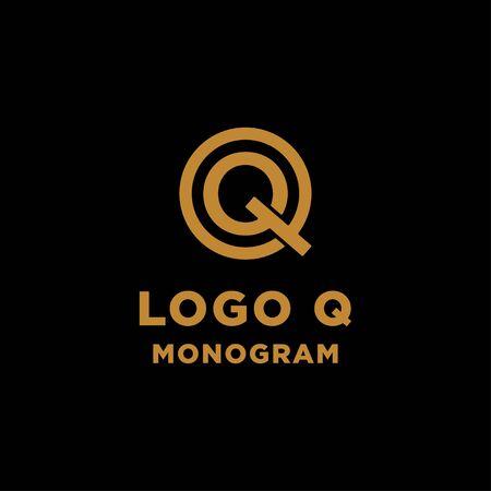 luxury initial q logo design vector icon element isolated