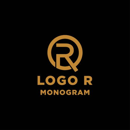luxury initial r logo design vector icon element isolated
