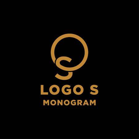 luxury initial s logo design vector icon element isolated Ilustração