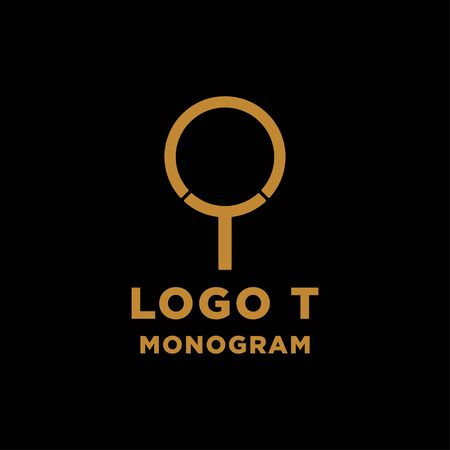 luxury initial t logo design vector icon element isolated