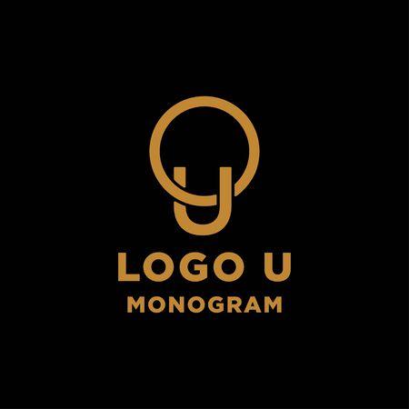 luxury initial u logo design vector icon element