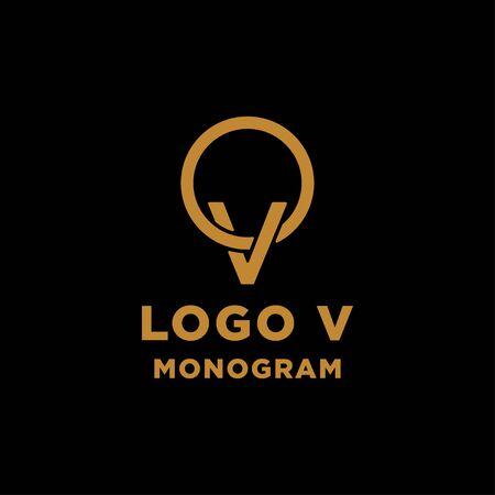 luxury initial v logo design vector icon element