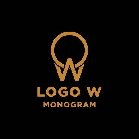luxury initial w logo design vector icon element