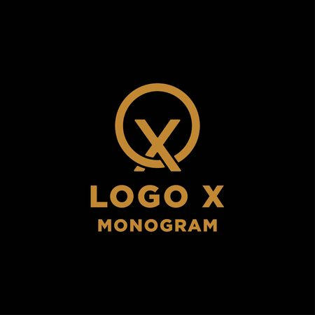 luxury initial x logo design vector icon element